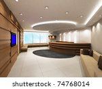 office entrance area with... | Shutterstock . vector #74768014