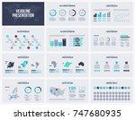 presentation slides business... | Shutterstock .eps vector #747680935