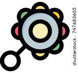 icon of round multicolor... | Shutterstock .eps vector #747683605