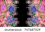 hologram  three dimensional... | Shutterstock .eps vector #747687529