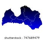 map of latvia | Shutterstock .eps vector #747689479