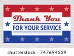veterans day thank you cards | Shutterstock .eps vector #747694339