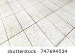 perspective tiles texture 3d... | Shutterstock . vector #747694534