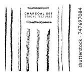 vector black monochrome chalk...   Shutterstock .eps vector #747697084