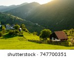 magura village  near zarnesti...   Shutterstock . vector #747700351