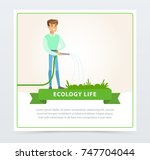 eco life concept with man...
