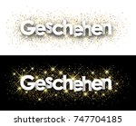events paper banner with...   Shutterstock .eps vector #747704185