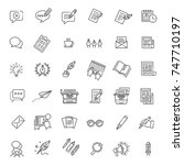 vector illustration set of... | Shutterstock .eps vector #747710197