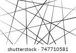 black and white chaos line... | Shutterstock .eps vector #747710581
