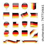 germany flag set   vector... | Shutterstock .eps vector #747714661