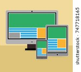 vector illustration of... | Shutterstock .eps vector #747718165