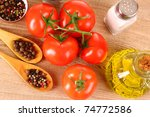 ingredients and spice for food... | Shutterstock . vector #74772586