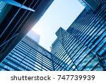 architecture details modern... | Shutterstock . vector #747739939