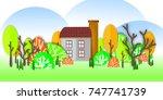 summer house. background   Shutterstock . vector #747741739