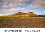 rana hill at sunset. autumn... | Shutterstock . vector #747745195