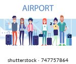 people traveling design.... | Shutterstock .eps vector #747757864