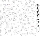 seamless memphis pattern 80's...   Shutterstock .eps vector #747768799