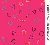 seamless memphis geometric... | Shutterstock .eps vector #747768865