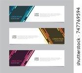 design banner. abstract... | Shutterstock .eps vector #747769594