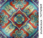 irregular dots pattern.... | Shutterstock .eps vector #747769849