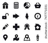 16 vector icon set   gift ... | Shutterstock .eps vector #747771031