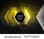 digital techno abstract... | Shutterstock .eps vector #747775447