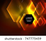 digital techno abstract... | Shutterstock .eps vector #747775459