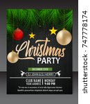 christmas flyer | Shutterstock .eps vector #747778174