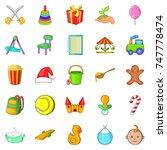 apprentice icons set. cartoon... | Shutterstock . vector #747778474