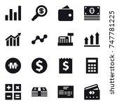 16 vector icon set   graph ... | Shutterstock .eps vector #747781225