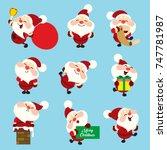 santa claus set | Shutterstock .eps vector #747781987