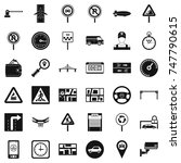 traffic in city icons set.... | Shutterstock . vector #747790615
