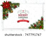 christmas background with... | Shutterstock .eps vector #747791767