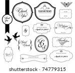 set of ornate vector frames. ...   Shutterstock .eps vector #74779315