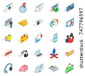 it technology icons set.... | Shutterstock . vector #747796597