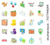 it specialist icons set.... | Shutterstock . vector #747799099
