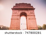india gate close up details...   Shutterstock . vector #747800281