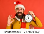 christmas eve and time to... | Shutterstock . vector #747801469