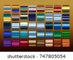 colorful metal color gradation... | Shutterstock .eps vector #747805054