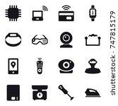 16 vector icon set   chip ... | Shutterstock .eps vector #747815179