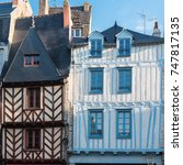 beautiful old half timbered... | Shutterstock . vector #747817135