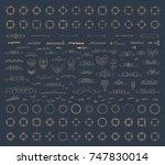 huge rosette wicker border... | Shutterstock .eps vector #747830014