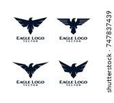 eagle bird logo template vector   Shutterstock .eps vector #747837439