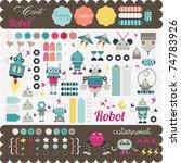 kids elements for scrap booking | Shutterstock .eps vector #74783926