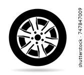 car tire or tyre | Shutterstock .eps vector #747847009