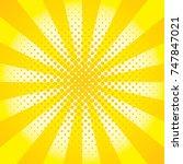 yellow pop art background  | Shutterstock .eps vector #747847021