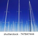 Artistic. Yacht Masts Of Boats...