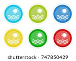 set of rounded colorful buttons ... | Shutterstock . vector #747850429