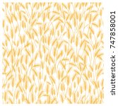 seamless monochrome vector... | Shutterstock .eps vector #747858001
