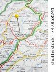 Small photo of Road map of the city of Bolzano Italy